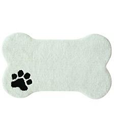 "Bacova Dog Bone Bath Rug 19""x32"""