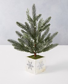 Martha Stewart Collection Silver Woods Artificial Mistletoe Tree, Created for Macy's