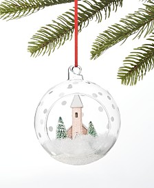 Holiday Lane Shimmer and Light Paper House in Dome Ornament, Created for Macy's