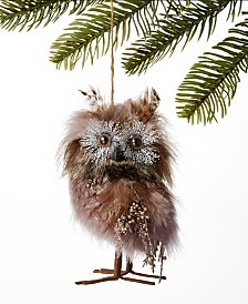 Holiday Lane Spotted Owl Feather Owl Ornament, Created for Macy's
