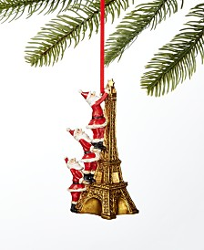 Holiday Lane World Traveler Santa on Eiffel Tower Ornament, Created For Macy's