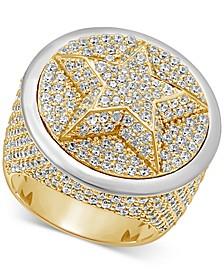 Men's Diamond Pavé Star Cluster Ring (6-3/4 ct. t.w.) in 10k Gold & 10k White Gold