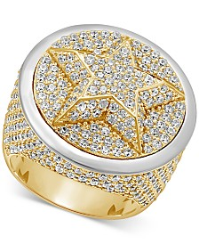 Men's Diamond Pavé Star Cluster Ring (6-3/4 ct. t.w.) in 10k Gold & 10k White Gold