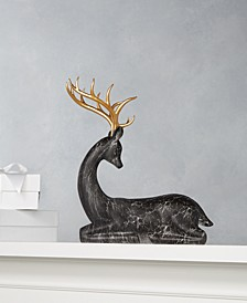 Midnight Blue Faux Marble Reindeer, Created for Macy's