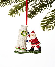 Holiday Lane World Traveler Santa & Leaning Tower of Pisa Ornament, Created For Macy's