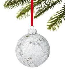 Holiday Lane Snow Daze Beaded Globe Ball Ornament, Created For Macy's