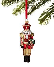 Holiday Lane Majesty Glass Nutcracker Ornament, Created For Macy's
