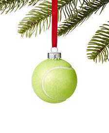 Holiday Lane Sports Glitter Tennis Ball Ornament, Created for Macy's