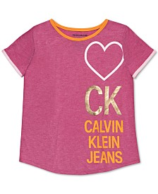 Calvin Klein Big Girls Logo-Print T-Shirt