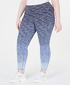 Plus Size Ombré Space-Dyed Leggings, Created for Macy's