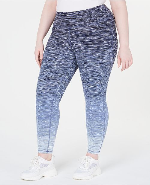 Ideology Plus Size Ombré Space-Dyed Leggings, Created for Macy's