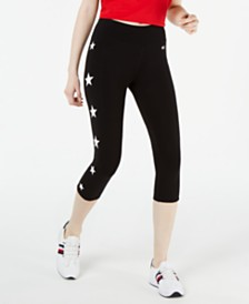 Tommy Hilfiger Sport Star-Trim Cropped Pants