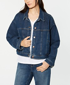 Eileen Fisher Cropped Denim Jacket, Regular & Petite