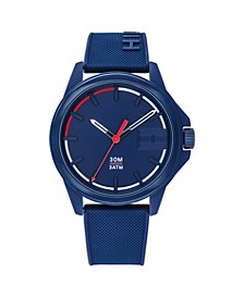 Mens Blue Silicone Strap Watch 42mm , Created for Macys