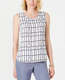 Anne Klein Printed Top
