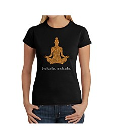 Women's Word Art T-Shirt - Inhale Exhale