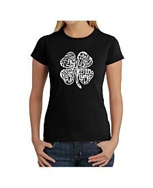 Women's Word Art T-Shirt - Feeling Lucky