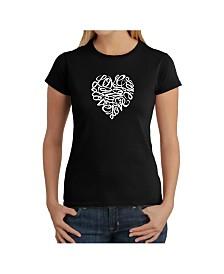 Women's Word Art T-Shirt - Love