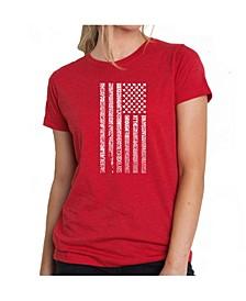 Women's Premium Word Art T-Shirt - National Anthem Flag