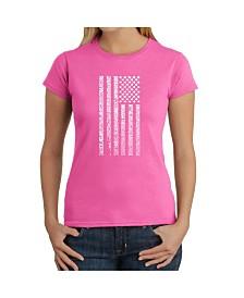 Women's Word Art T-Shirt - National Anthem Flag
