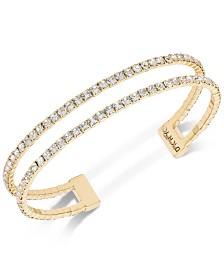 DKNY Pavé Double Row Cuff Bracelet