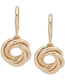 Lauren Ralph Lauren Gold-Tone Knot Drop Earrings