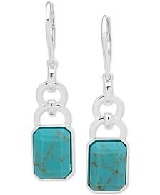 Lauren Ralph Lauren Silver-Tone Stone Drop Earrings