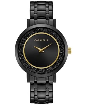 Designed by Bulova Women's Crystal Black Stainless Steel Bracelet Watch 36mm