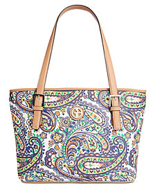 Giani Bernini Saffiano Paisley Tote, Created for Macy's