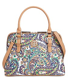 Giani Bernini Saffiano Paisley Dome Satchel, Created for Macy's