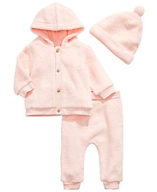 First Impressions Baby Girl Pearl Blush Faux Fur Separates