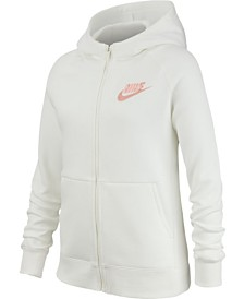 Nike Big Girls Zip-Up Fleece Hoodie