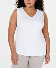 JM Collection Plus Size Embellished Tank Top, Created for Macy's