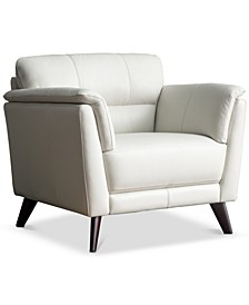 """CLOSEOUT! Lucais 39"""" Leather Chair, Created for Macy's"""