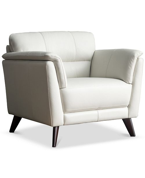 """Furniture CLOSEOUT! Lucais 39"""" Leather Chair, Created for Macy's"""
