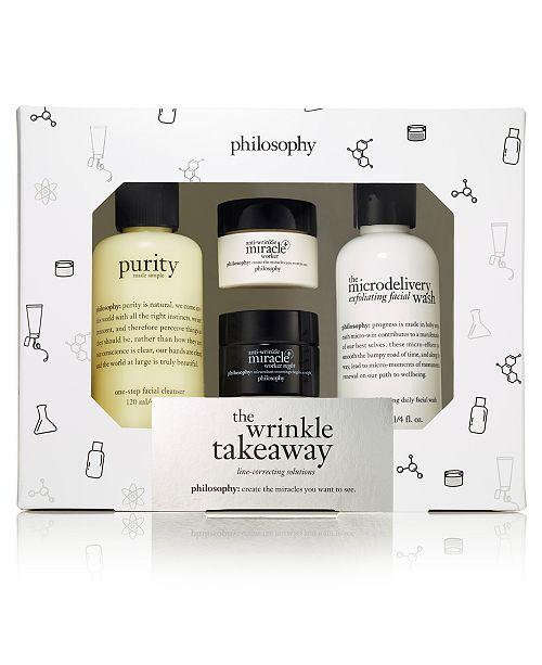 philosophy 4-Pc. The Wrinkle Takeaway Anti-Wrinkle Miracle Worker Trial Set