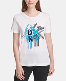 DKNY Crewneck Logo-Print T-Shirt