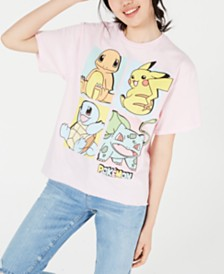 Mighty Fine Juniors' Pokemon Graphic T-Shirt