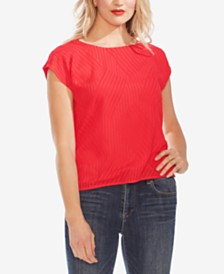 Vince Camuto Textured Extended-Shoulder Top