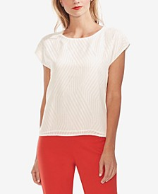 Textured Extended-Shoulder Top