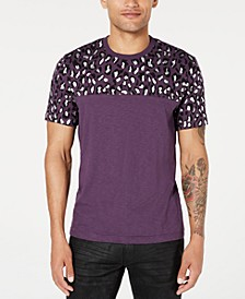 INC Men's Foil Leopard T-Shirt, Created for Macy's