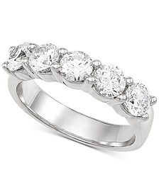 Lab Grown Diamond Anniversary Band (2 ct. t.w.) in 14k White Gold