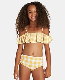 Toddler, Little & Big Girls 2-Pc. Off-The-Shoulder Swimsuit