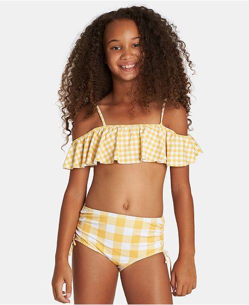 Billabong Toddler, Little & Big Girls 2-Pc. Off-The-Shoulder Swimsuit