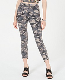 Juniors' Camo Cropped Skinny Jeans