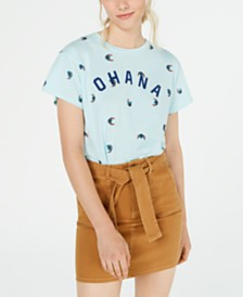 Disney Juniors' Stitch Ohana Graphic T-Shirt by Jerry Leigh