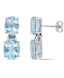 Blue Topaz (12-5/8 ct. t.w.) Dangle Earrings in Sterling Silver