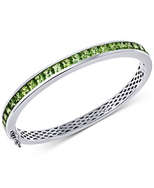 Gemstone Bangle Bracelet (8 ct. t.w.) in Sterling Silver
