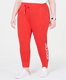 Tommy Hilfiger Sport Plus Size Ribbed Logo Jogger Pants