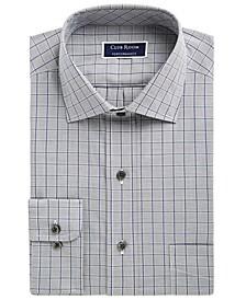 Men's Classic/Regular Fit Performance Windowpane Dress Shirt, Created for Macy's